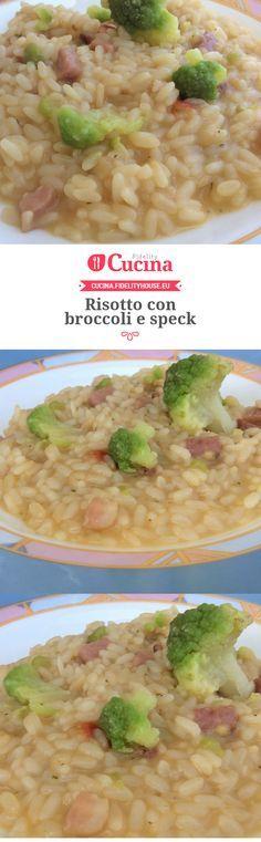 Risotto con broccoli e speck