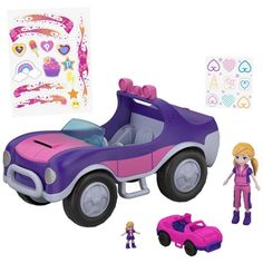 Tiny is Mighty takes on a whole new meaning with Polly Pocket! Check out the Polly Pocket Secret Utility Vehicle and all our Polly Pocket dolls, compacts and more today at the official Mattel Shop website! Toys For Girls, Kids Toys, Paw Patrol, Sporty Suv, Mattel Shop, Polly Pocket Dolls, Mermaid Kids, Cabriolet, Ken Doll