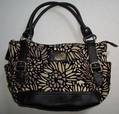 Relic Canvas Velvet Design Handbag Model no. RLH5232 #Relic #Handbag