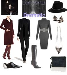 """""""Dark Winter Dramatic"""" by thewildpapillon on Polyvore"""