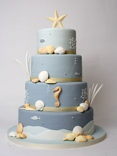 Image detail for -Underwater Wedding Cake | Charm City Cakes