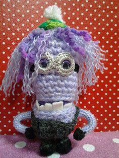 Ravelry: Purple Minion pattern by Ami Angela Crochet Pattern Free, Minion Crochet Patterns, Minion Pattern, Amigurumi Patterns, Crochet Ideas, Minion Toy, Evil Minions, Ravelry, Purple Minions