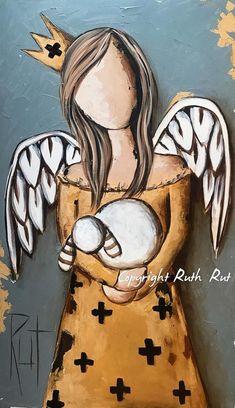 3d Wallpaper Elephant, Easy Canvas Painting, Canvas Art, Art Sketches, Art Drawings, Angel Wings Art, Angel Artwork, Angel Drawing, Bible Art