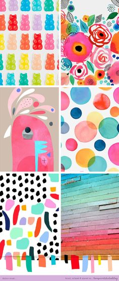 Colour crush time, and a happy Friday!         (clockwise from top left)     1  | 2  | 3  | 4  | 5  | 6     x x x