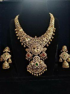 Indian Jewelry Earrings, Jewelry Art, Fine Jewelry, Fashion Jewelry, India Jewelry, Gold Jewelry, Diamond Necklace Set, Dimond Necklace, Diamond Jewelry