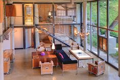 Beautiful Manhattan style loft (Swiss). Furniture and decorations are industrial style.