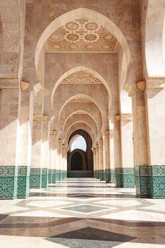 water mosque casablanca - part of the water mosque in Casablanca, morocco