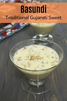 This is the BEST basundi recipe you'll get around the internet. It is super creamy, rich, perfectly sweet with the crunch of nuts in every spoon. A perfect festive dessert that not to be missed. This Indian dessert is served with puffed puri along with the meal (feast thali). To learn how to make Gujarati sweet basundi with step by step photos hop over to the blogpost. Diwali Snacks, Diwali Food, Diwali Recipes, Indian Desserts, Indian Food Recipes, Gujarati Recipes, Savoury Dishes, Curry Recipes, Something Sweet