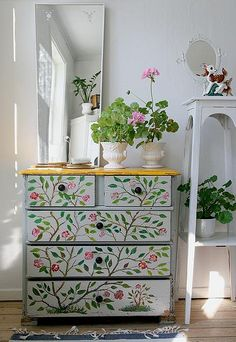 This is where I keep my undergarnments Hand Painted Furniture, Refurbished Furniture, Painting Furniture, Furniture Inspiration, Room Inspiration, Furniture Projects, Cool Furniture, Woman Cave, Lady Cave