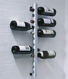 Vertical Wine Racks Holder Metal Bottle Rack Wine Coolers Holders Buckets Barware >> Space saving cellar wall wine rack for smart storage options in bar decor