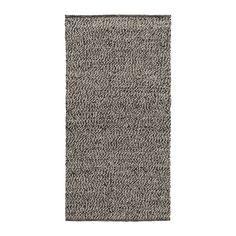 IKEA - BASNÄS, Teppich flach gewebt, 80x150 cm, , Mit seinem strapazierfähigen, schmutzabweisenden Wollflor gut geeignet für stark frequentierte Räume wie Flur oder Eingangsbereich.Lässt sich dank der glatten Oberfläche leicht staubsaugen.Beidseitig verwendbar, dadurch längere Lebensdauer.