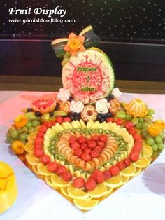 fruit platter in heart shape