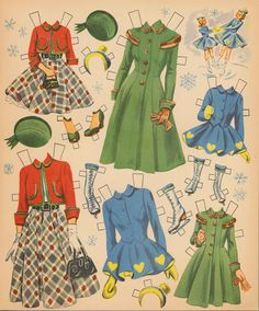 MOMMY and ME and Our Matching Outfits ~~~ Restored 1954 Paper Dolls ~ 5 of 8