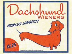 Dachshund Wieners is digitally printed on archival photographic paper resulting in vivid, pure color and exceptional detail that is suitable for any museum or gallery display. Description from amazon.com. I searched for this on bing.com/images
