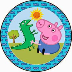 Fazendo a Propria Festa: KIT DE ARTES PERSONALIZADAS DIGITAIS TEMA GEORGE PIG Cumple George Pig, Peppa Pig Printables, George Pig Party, Oh My Fiesta, Baby Party, Educational Activities, Stone Art, Birthday Parties, Pig Birthday