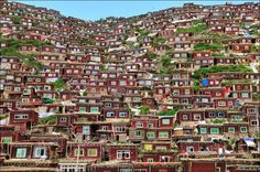 Mountain village in Tibet People live in amazing ways and in amazing places. To those of us accustomed to our own comfortable dwellings, it . Epic Photos, Cool Photos, Amazing Photos, Life Is Beautiful, Beautiful Places, Amazing Places, Beautiful Scenery, Destinations, Mountain Village