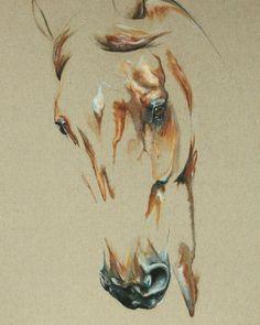 Pintura al óleo :Laetita P. #horses #caballos