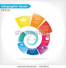 flat design vector abstract flow chart infographic elements design