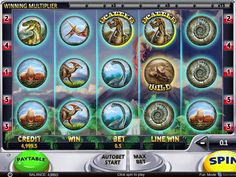 Ausprobieren kostenlos Spielautomaten Spiel Slotsaurus - http://freeslots77.com/de/slotsaurus/