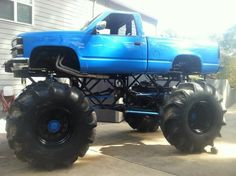 Lifted up truck