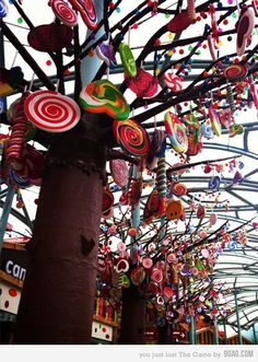Is this from Willy Wonka's chocolate factory? hang candy from your wish tree or tree centre piece