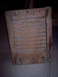 Architectural & Garden Frugal Antique Washboard 100% Original Antiques
