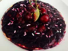 cherries and blueberries fresh fruits special Tart 3