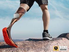 leg concept - It's very difficult for an amputee to go on a hike with existing prostheses given that they are usually intended for little more than walking. Robot Leg, Prosthetic Leg, Disabled People, Robot Design, Walk On, Stress And Anxiety, Build Muscle, Hiking Boots, Health Fitness