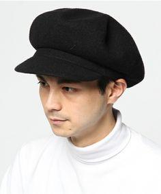 KANGOL(カンゴール)の【KANGOL】Wool Spitfire/カンゴール ウール スピットファイヤー オーバーライド(ハンチング/ベレー帽)|ブラック