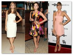 Celebritie Eva Mendes with Brian Atwood shoes.