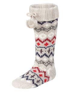 Fair Isle Bootie Socks