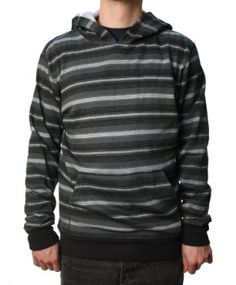 "Quiksilver Men's ""Blow Out"" Hoodie Black & Gray Striped-Large Quiksilver. $36.96"