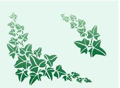 ivy leaf stencil - Google Search