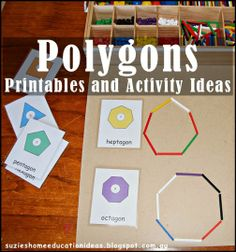 Learning about Polygons using Spielgaben - Printables and Activity Ideas from Suzie's Home Education Ideas