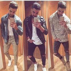 {Bom dia, queridos! ☀️} Qual dos 3 estilos combina mais com vocês? Eu usaria todos. #it_fashionmen