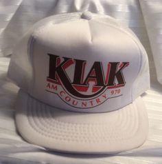 KIAK AM 970 Country Radio Station Vtg SnapBack Mesh Hat Fairbanks  9e151bdfad69