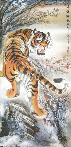 Climbing Tiger by Li Molong