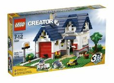 LEGO Creator Apple Tree House (5891) - 539 Piece set by LEGO Creator. $42.99. Highly detailed: Basketball hoop, TV antenna and garage. 3 models in 1:  Rebuild into a tall townhouse or summer home. Classic family house packed with details, like mail box, lawnmower, outdoor light, water tap in the garden and much more. Features a blue tiled roof which can be lifted to play inside. 539 pieces. From the Manufacturer                This modern country home with an apple ...