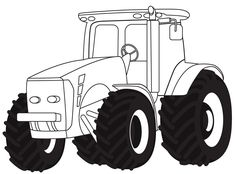 Agriculture Tractor coloring page Free Printable Coloring Pages, Coloring Pages For Kids, Coloring Sheets, Coloring Books, Tractor Coloring Pages, Tractor Silhouette, Tractor Drawing, Agriculture Tractor, Printable Pictures
