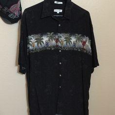 Men's Hawaiian Shirt Like new Pierre cardin Tops Button Down Shirts