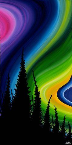 Kuujjuaq at nightI-Tanya Mesher Jones - Indigenous Art, Artsy Fartsy, Amazing Art, All Things, Northern Lights, Creations, Paintings, Illustrations, Random