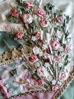 Lovely, lovely silk ribbon embroidery.