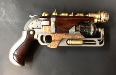 "(17) Steampunk Tendencies The ""Abney Park Special"" Tesla gun. Or, a steampunked Nerf Hammershot toy."