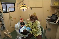 The Ronald McDonald Care Mobile in Fargo, North Dakota delivers dental care to children in underserved communities.