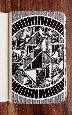Moleskine journal and sketchbook inspiration art sketchbook, art, dood Kunstjournal Inspiration, Sketchbook Inspiration, Art Sketchbook, Fashion Sketchbook, Doodle Patterns, Zentangle Patterns, Zentangles, Doodle Art Journals, Mandala Drawing