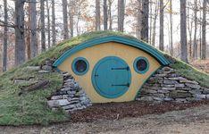 Wooden Hobbit Hole Garden Room or Summer House In Ground Trampoline, Backyard Trampoline, Backyard Fort, Backyard Kids, Outside Playhouse, Build A Playhouse, Hobbit Playhouse, Playhouse Kits, Northern White Cedar