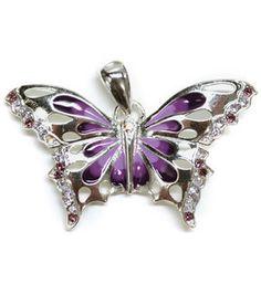 Lovin' the purple! ~ Create Your Style Swarovski-Purple Butterfly Pendant: beads: jewelry & beading: crafts: Shop | Joann.com
