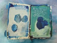 M.H. Dunaway's painted book with lyrics from Mirah