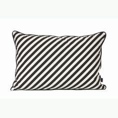 Black Stripe pillow - Ferm Living