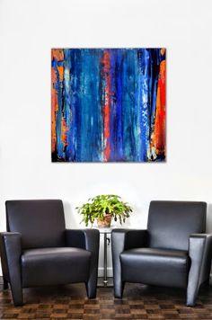 "Saatchi Art Artist Nestor Toro; Painting, ""Blue Buoyant"" #art"